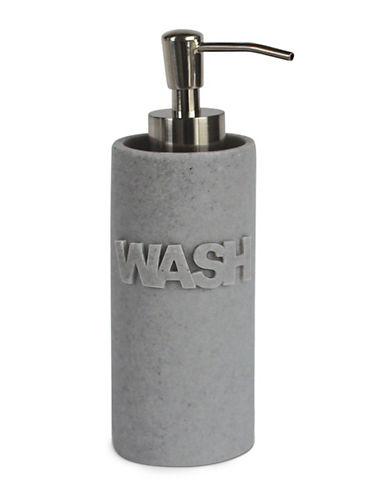 Splash Wash Bath Ensemble Dispenser-GREY-One Size