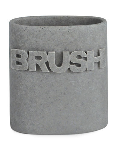 Splash Wash Bath Ensemble Toothbrush Holder-GREY-One Size