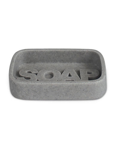 Splash Wash Bath Ensemble Soap Dish-GREY-One Size