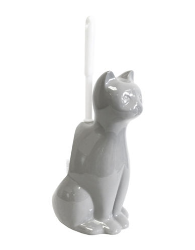 Splash Cat Ceramic Toilet Brush-GREY-One Size
