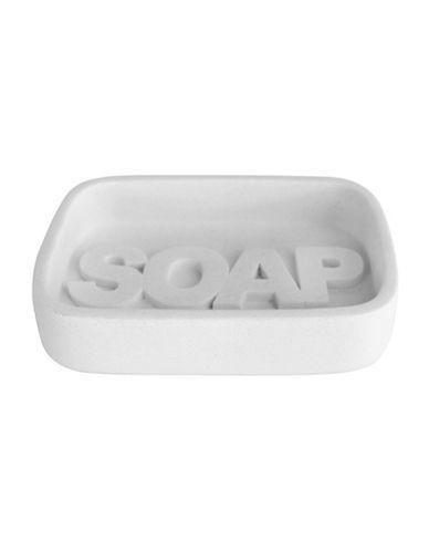 Splash Wash Bath Ensemble Soap Dish-WHITE-One Size