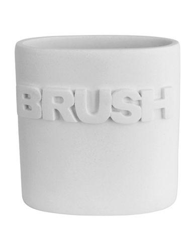 Splash Wash Bath Ensemble Toothbrush Holder-WHITE-One Size