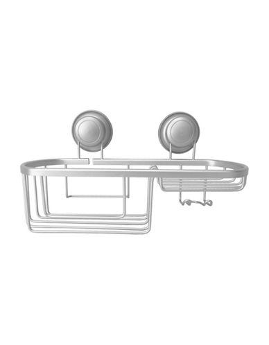 Splash Newton Aluminum Suction Shower Basket-SATIN-One Size