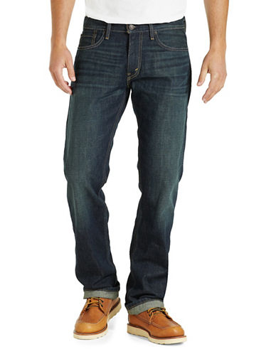 LeviS 514 Kale Straight-Fit Cotton Jeans-BLUE-34X30