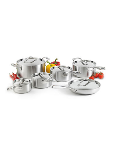 Lagostina Academy Clad 12-Piece Stainless Steel Cookware Set - Induction Ready-SILVER-One Size