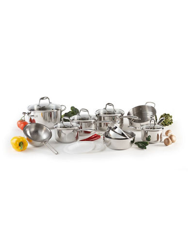 Lagostina Ambiente 15-Piece Stainless Steel Cookware Set - Induction Ready-SILVER-One Size