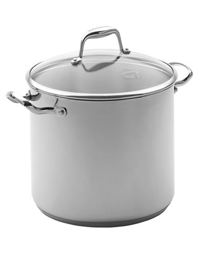 Lagostina 24cm Stock Pot with cover 7.5 L-SILVER-7.5