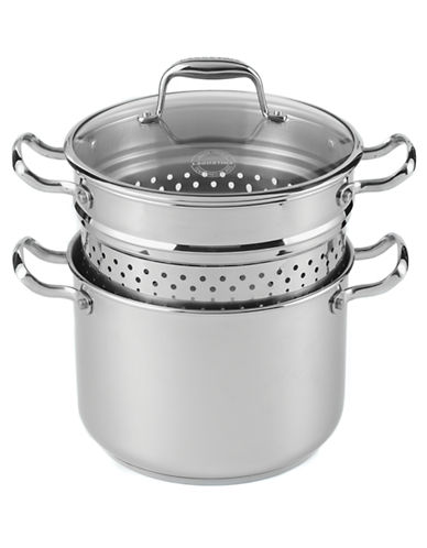 Lagostina Ambiente 3 Piece Pasta Cooker-SILVER-One Size