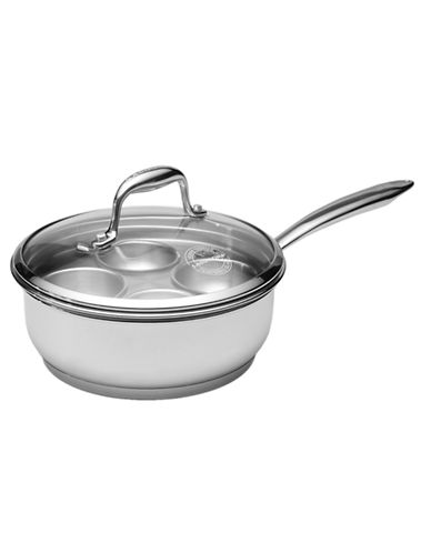 Lagostina Ambiente 20cm 2 L Saucepan with Egg Poacher Insert-STAINLESS STEEL-One Size