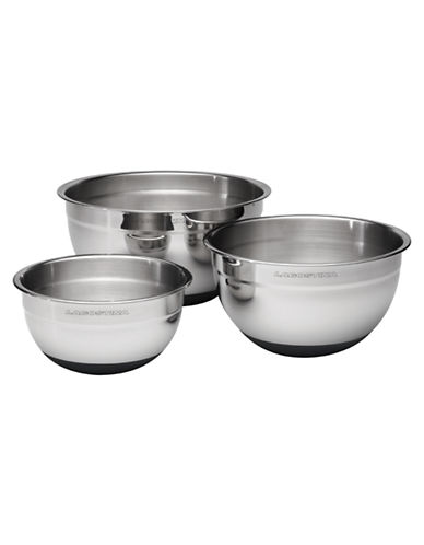 Lagostina Ambiente Set of 3 Mixing Bowls-SILVER-One Size