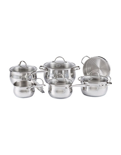 Lagostina Bellissima 11-Piece Stainless Steel Cookware Set - Induction Ready-STAINLESS STEEL-One Size