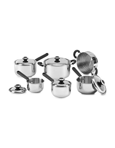 Lagostina 11-Piece Concerto Stainless Steel Cookware Set-STAINLESS STEEL-One Size