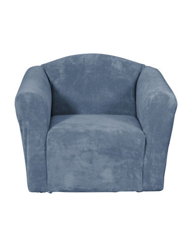 Sure Fit Hanover One-Piece Stretch Chair Slipcover-NAVY-One Size