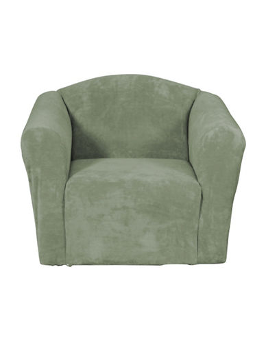 Sure Fit Hanover One-Piece Stretch Chair Slipcover-SAGE-One Size
