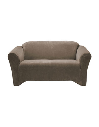 Sure Fit Hanover One-Piece Stretch Loveseat Slipcover-WALNUT-One Size