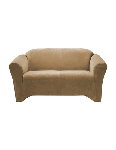 Sure Fit Hanover One-Piece Stretch Loveseat Slipcover-CAMEL-One Size
