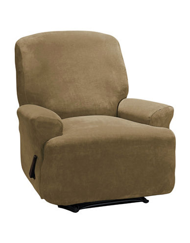 Sure Fit Hanover Four-Piece Stretch Recliner Slipcover-CAMEL-One Size