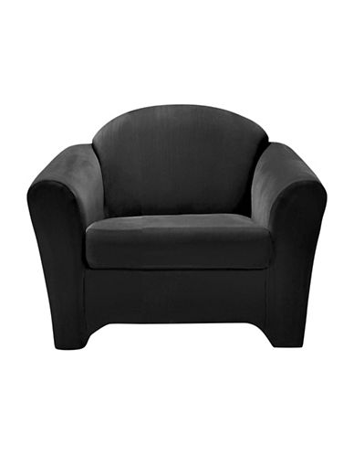 Sure Fit Surefit Eastwood Two-Piece Chair Slipcover-BLACK-One Size