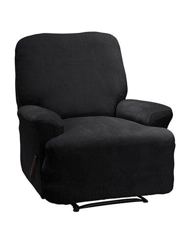 Sure Fit Eastwood Four-Piece Recliner Stretch Slipcover-BLACK-One Size