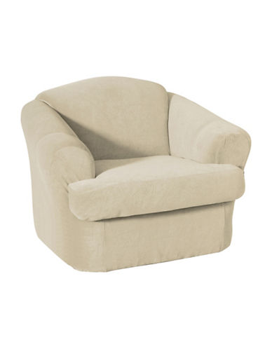 Sure Fit Surefit Eastwood Two-Piece Chair Slipcover-BONE-One Size