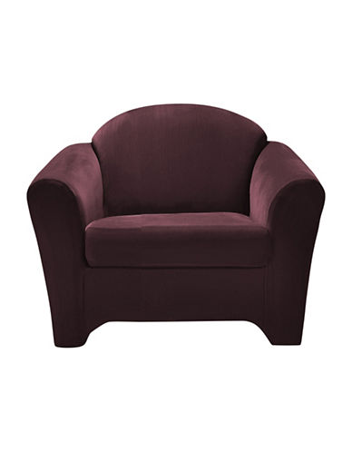Sure Fit Surefit Eastwood Two-Piece Chair Slipcover-WINE-One Size