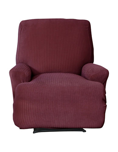 Sure Fit Spencer One-Piece Stretch Recliner Slipcover-WINE-One Size