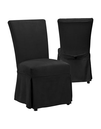 Surefit Luxury Suede Chair Slipcover-BLACK-One Size 88482089_BLACK_One Size