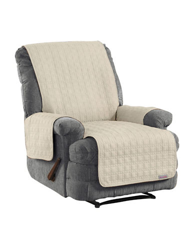 Sure Fit QuickCover Studio Size Microsuede Recliner Protector-BONE-One Size