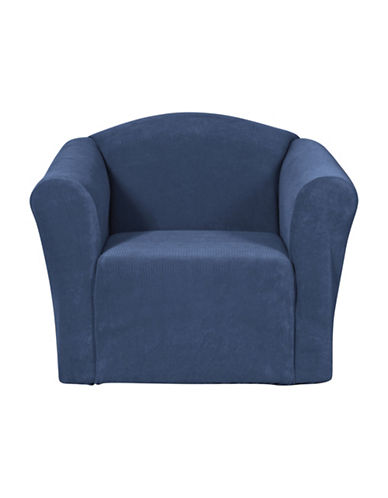 Sure Fit Surefit Dimples One-Piece Chair Slipcover-NAVY-One Size