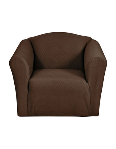 Sure Fit Surefit Diamond Stretch Chair Slipcover-CHOCOLATE-One Size