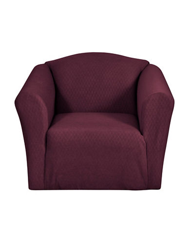 Sure Fit Surefit Diamond Stretch Chair Slipcover-MERLOT-One Size