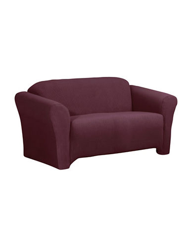 Sure Fit Surefit Diamond Stretch Sofa Slipcover-MERLOT-One Size