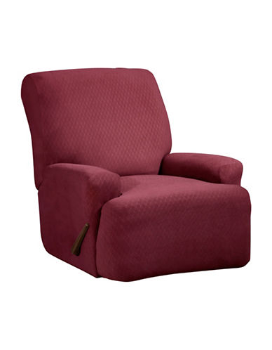 Sure Fit Surefit Diamond Stretch Four-Piece Recliner Slipcover-MERLOT-One Size