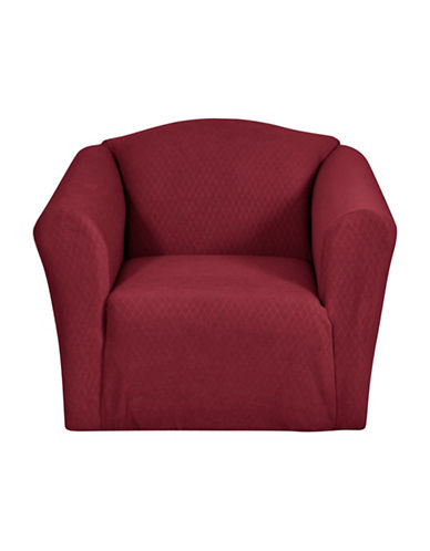 Sure Fit Surefit Diamond Stretch Chair Slipcover-CRIMSON-One Size