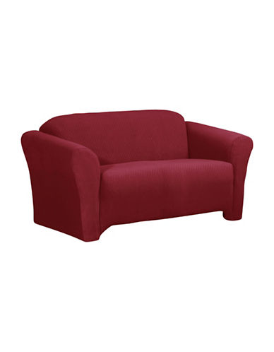 Sure Fit Surefit Diamond Stretch Loveseat Slipcover-CRIMSON-One Size