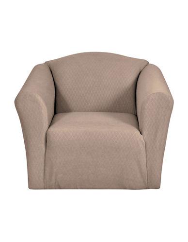 Sure Fit Surefit Diamond Stretch Chair Slipcover-MINK-One Size
