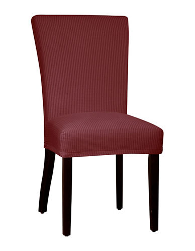 Sure Fit Montgomery One-Piece Stretch Parson Chair Slipcover-MERLOT-One Size