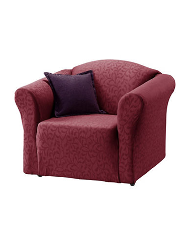 Sure Fit Fresca One-Piece Stretch Chair Slipcover-MERLOT-One Size