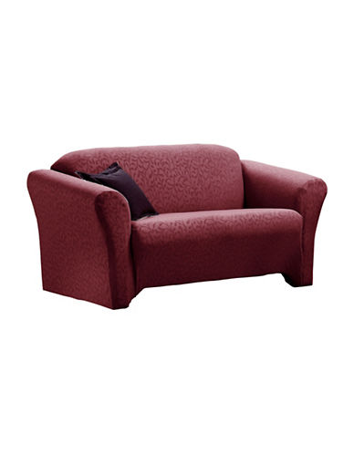 Sure Fit Fresca One-Piece Stretch Sofa Slipcover-MERLOT-One Size