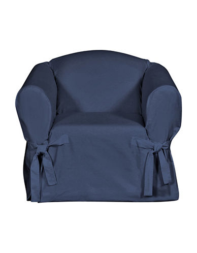 Sure Fit Surefit Duck Chair Slipcover-INDIGO-One Size