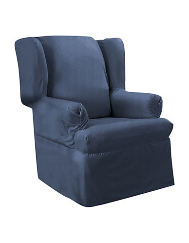Sure Fit Surefit Duck Wing Chair Slipcover-INDIGO-One Size