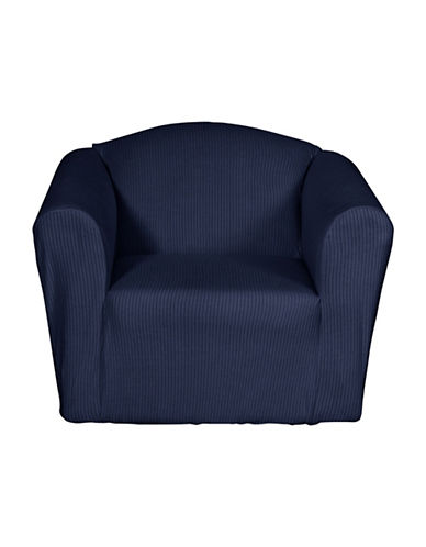 Sure Fit Montgomery One-Piece Stretch Chair Slipcover-INDIGO-One Size