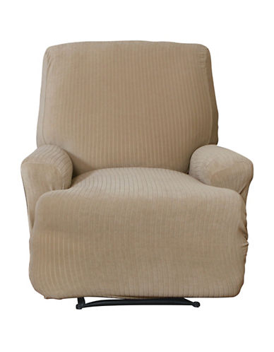 Sure Fit Spencer One-Piece Stretch Recliner Slipcover-BISCUIT-One Size
