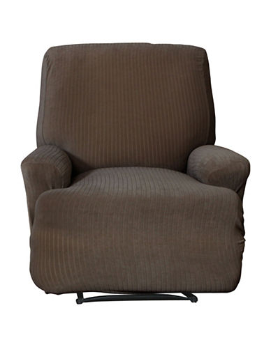 Sure Fit Spencer One-Piece Stretch Recliner Slipcover-BARK-One Size