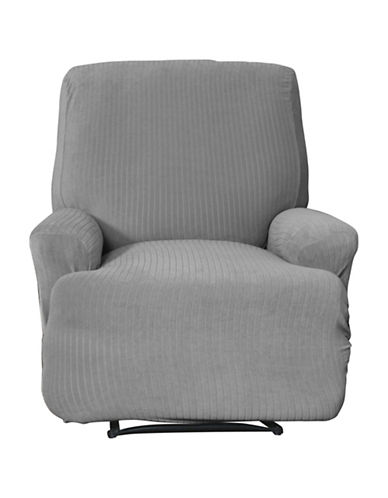 Sure Fit Spencer One-Piece Stretch Recliner Slipcover-SLATE-One Size