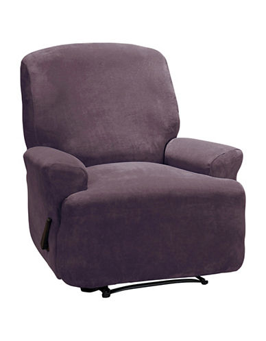 Sure Fit Hanover Four-Piece Stretch Recliner Slipcover-AUBERGINE-One Size