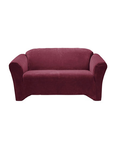 Sure Fit Hanover One-Piece Stretch Sofa Slipcover-MERLOT-One Size