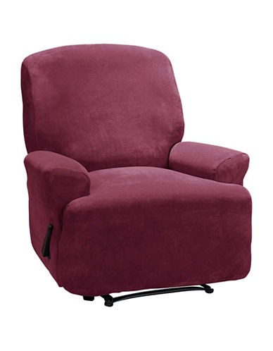 Sure Fit Hanover Four-Piece Stretch Recliner Slipcover-MERLOT-One Size