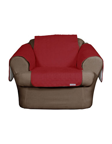 Sure Fit QuickCover Studio Size Quilted Microsuede Chair Protector-MERLOT-One Size