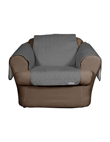 Sure Fit QuickCover Studio Size Quilted Microsuede Chair Protector-SLATE-One Size